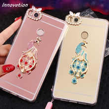 Fashion Mirror Case For iPhone X 6 6S 5S 5 7 Plus 8 Luxury Bling Diamond Soft TPU Clear edge Stand Ring Holder Phone Back Cover цена и фото
