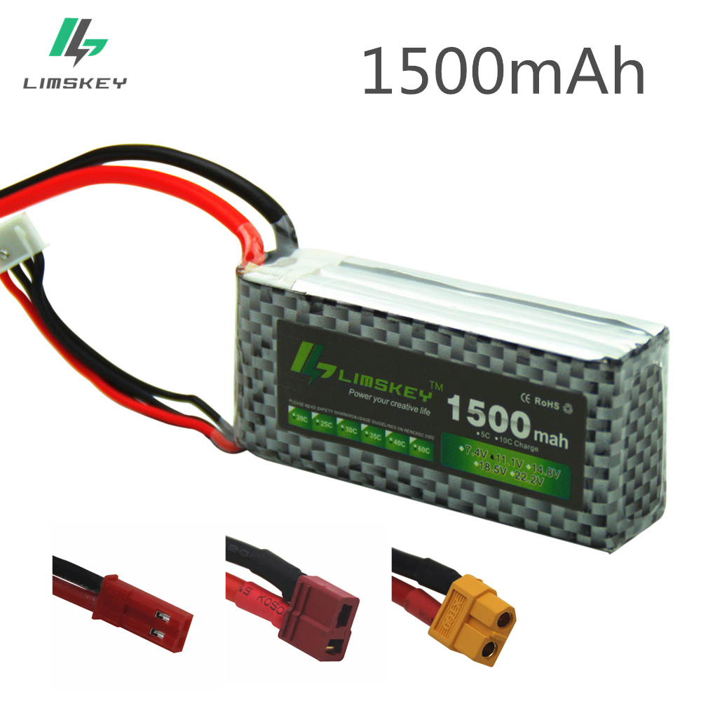 Limskey POWER 3S 11.1V 1500MAH T/XT60 Remote control model aircraft battery manufacturers Lithium Polymer 3S Li-po 11.1V battery(China)
