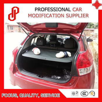 Black beige color Rear Trunk Security Shield retractable Cargo cover Tonneau cover for YARIS L 2014 2015 2016 2017 2018