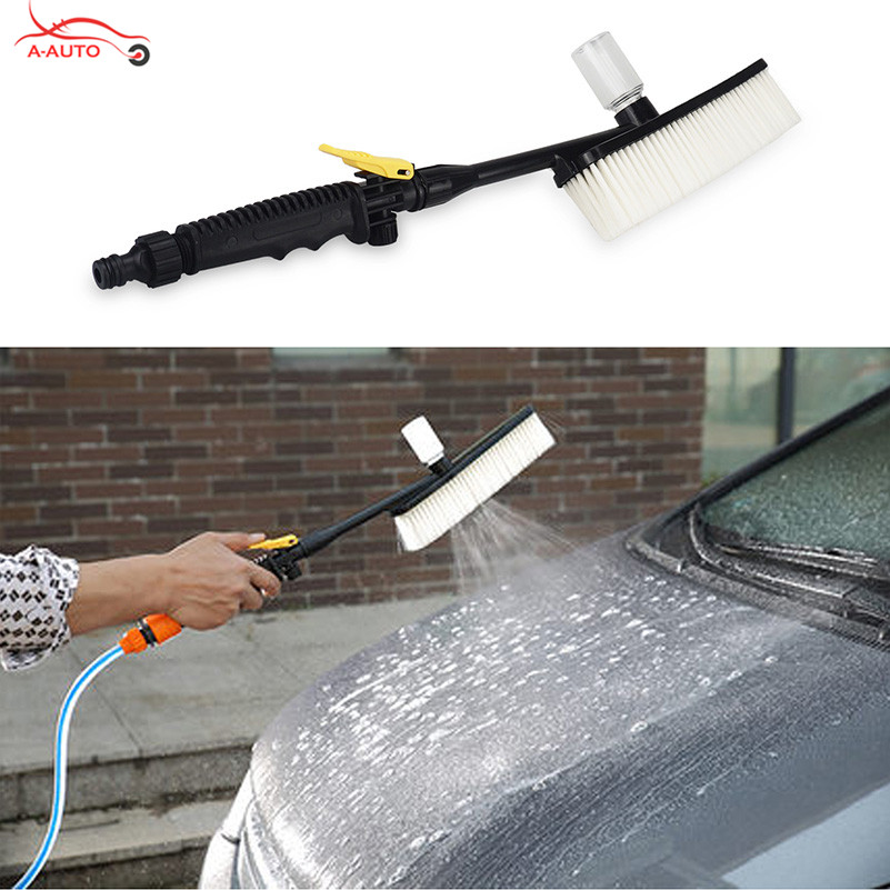 Car Wash Water Brush Exterior Retractable Long Handle for Lada Granta Largus Kalina Priora Opel astra h J g Mokka insignia corsa babaai for lada granta largus priora kalina small hole ventilate wear resistance pu leather front