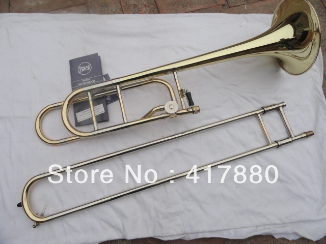 Cheap Bach 42BO Senior Sandhi Tenor Trombone Bb Imports 95 Alloy Copper Surface Gold Lacquer Trombone With Black Case