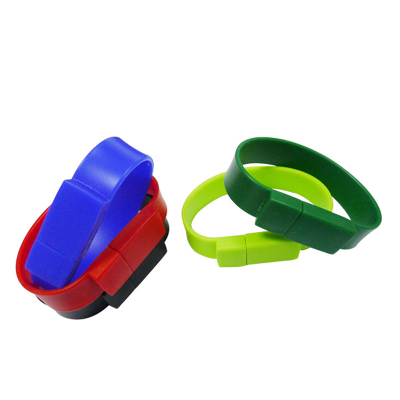 Colorful Fashion fast speed Silicone Bracelet 8GB 16GB 32GB 64GB USB 3.0 Flash Memory Stick pen drive Wristband usb flash drive