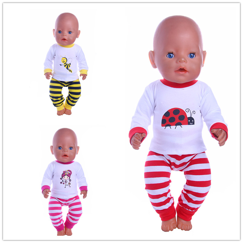 3 Color Choose Insect pattern Doll Clothes Wear Fit 43cm Baby Born zapf Doll,Children best Birthday Gift 2color choose leisure dress doll clothes wear fit 43cm baby born zapf children best birthday gift only sell clothes