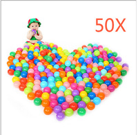 50pcs Colorful Ball Ocean Balls Soft Plastic Ocean Ball Baby Kid Swim Pit Toy YH 17