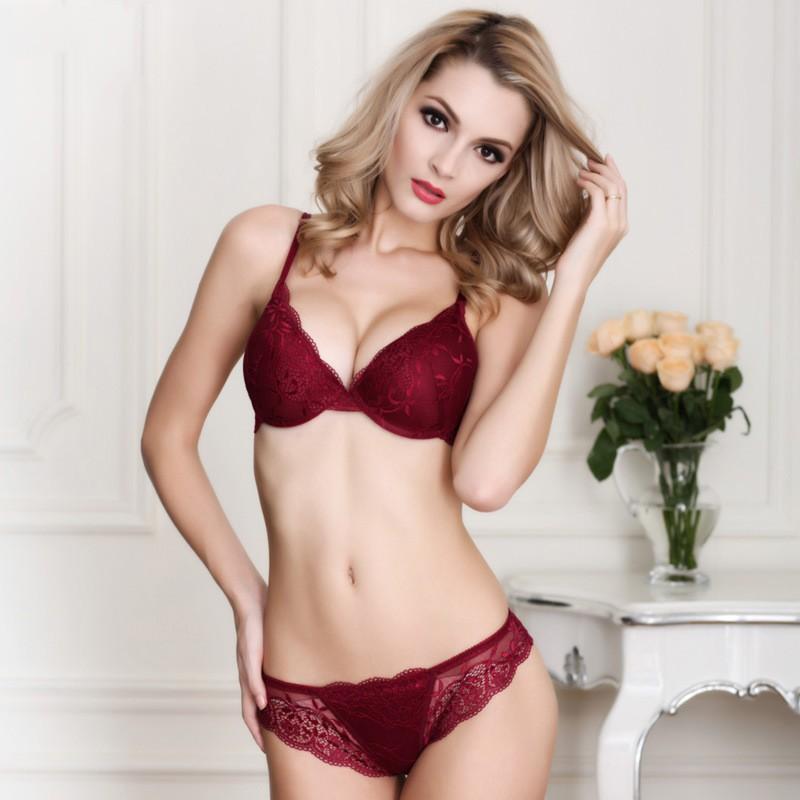 Newest Women Lingerie Sexy Lace Bra Set Transparent Sexy Push Up Bra Women Underwear Sexy Bra&Panty Sets 22
