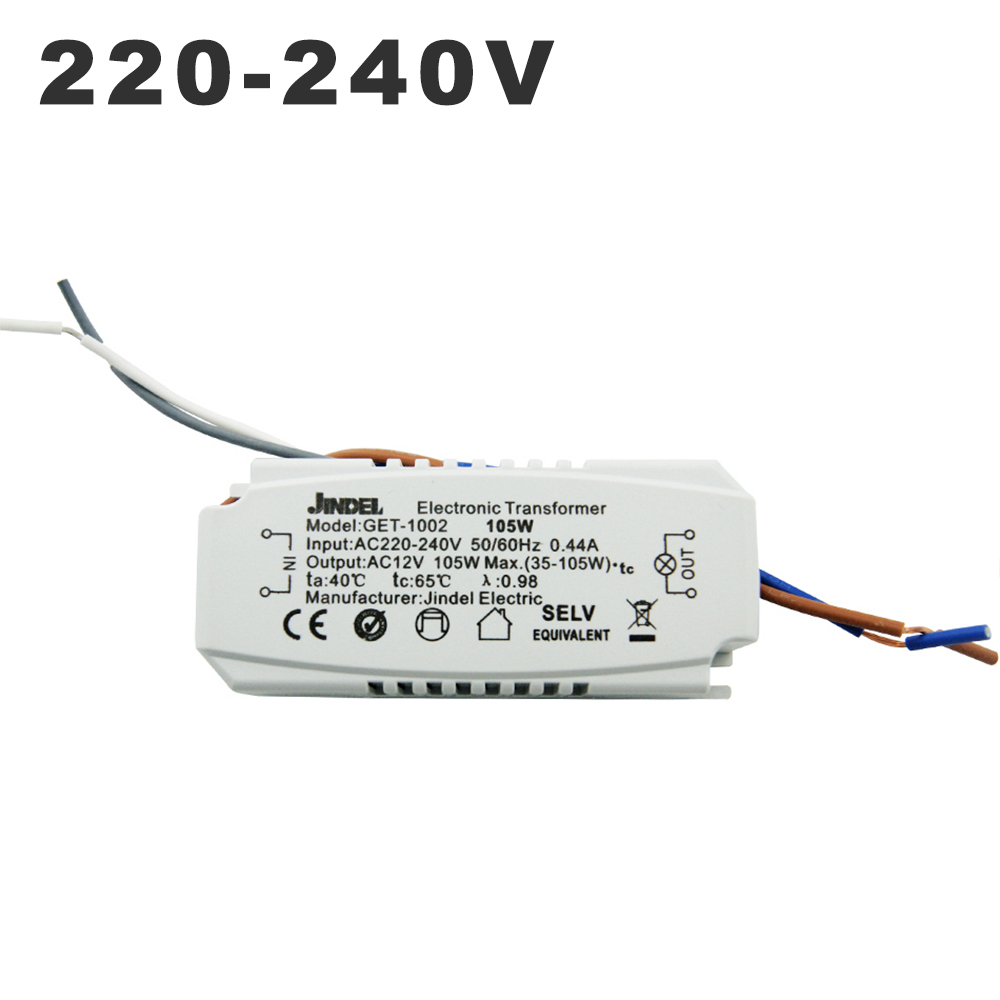 AC 220V To AC 12V Electronic Transformer 60W 105W 120W 160w CE Lighting Transformers For G4 Crystal Lamp Halogen Light Bead