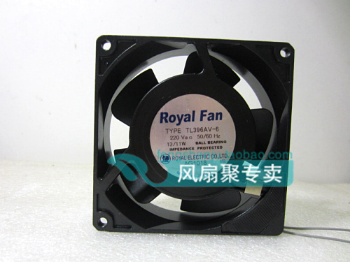 Origianl Royal TL396AV-6 9CM 92*92*25MM 220V 13/11W all metal cooling fan