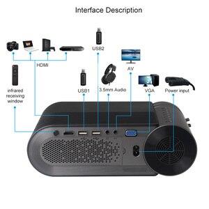 Image 4 - AAO YG500 Updage YG420 מיני LED מקרן Native 1280x720 HD נייד וידאו Beamer YG421 אלחוטי WiFi רב מסך 3D Proyector