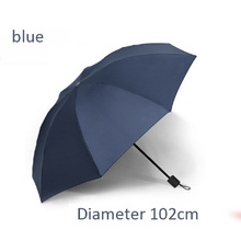High-end large business men and women sun protection UV folding rain dual-use umbrella 125 cm 112 cm ten bones 102 cm eight bone
