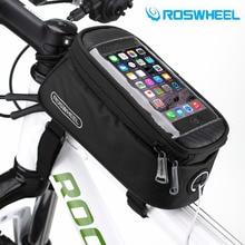 "ROSWHEEL 4.8 ""5.7""ขี่จักรยานจักรยานจักรยานกระเป๋ากระจาดกรอบด้านหน้ากระเป๋าหลอดสำหรับโทรศัพท์มือถือMTBจักรยานT Ouch S Creenกระเป๋าฟรีการจัดส่งสินค้า"