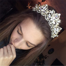 Romad Crowns Wedding Tiara Charm Crystal Hair Accessories Bridal Crown Wedding Tiaras For Women Jewelry все цены
