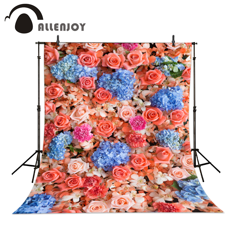 Allenjoy photographic camera Rose hydrangea gorgeous wedding baby shower real background for photo shoot christmas photo vinyl