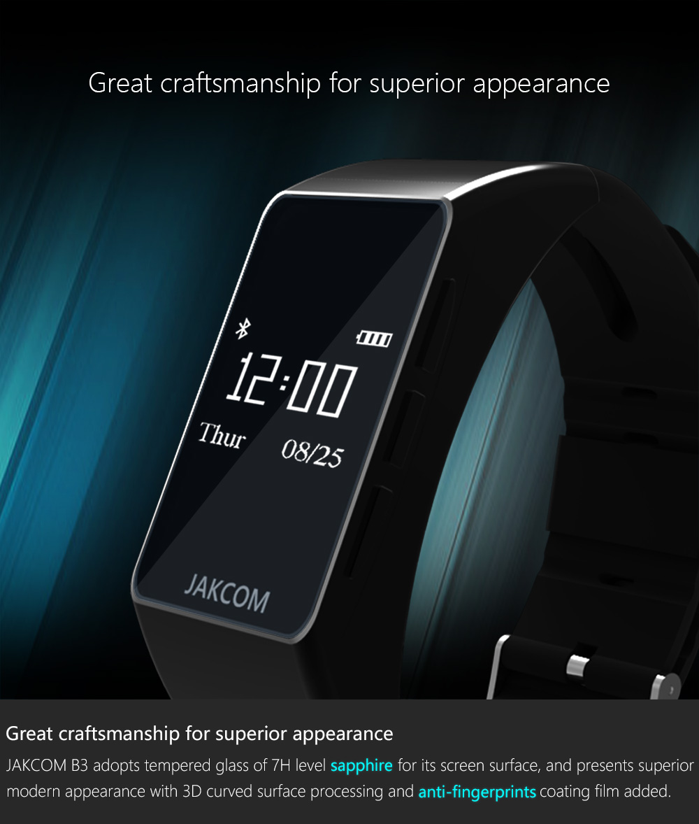 Jakcom B3 Smart Band New Product Of Wristba As Heart Rate Monitor Watch For Xiaomi Mi Band 2 Bracelet Talkband 4