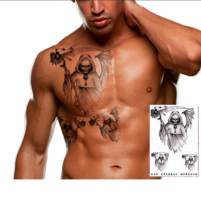 Manzilin 5 Unidsset Ghost Wolf Diseños 3d Tatuajes Tatuajes