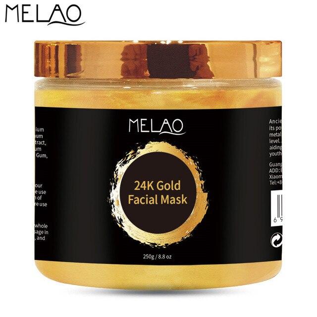 MELAO 24K Gold Face Mask Anti Wrinkle Anti Aging Whitening Lifting Firming Facial Masks Skin Care 250g