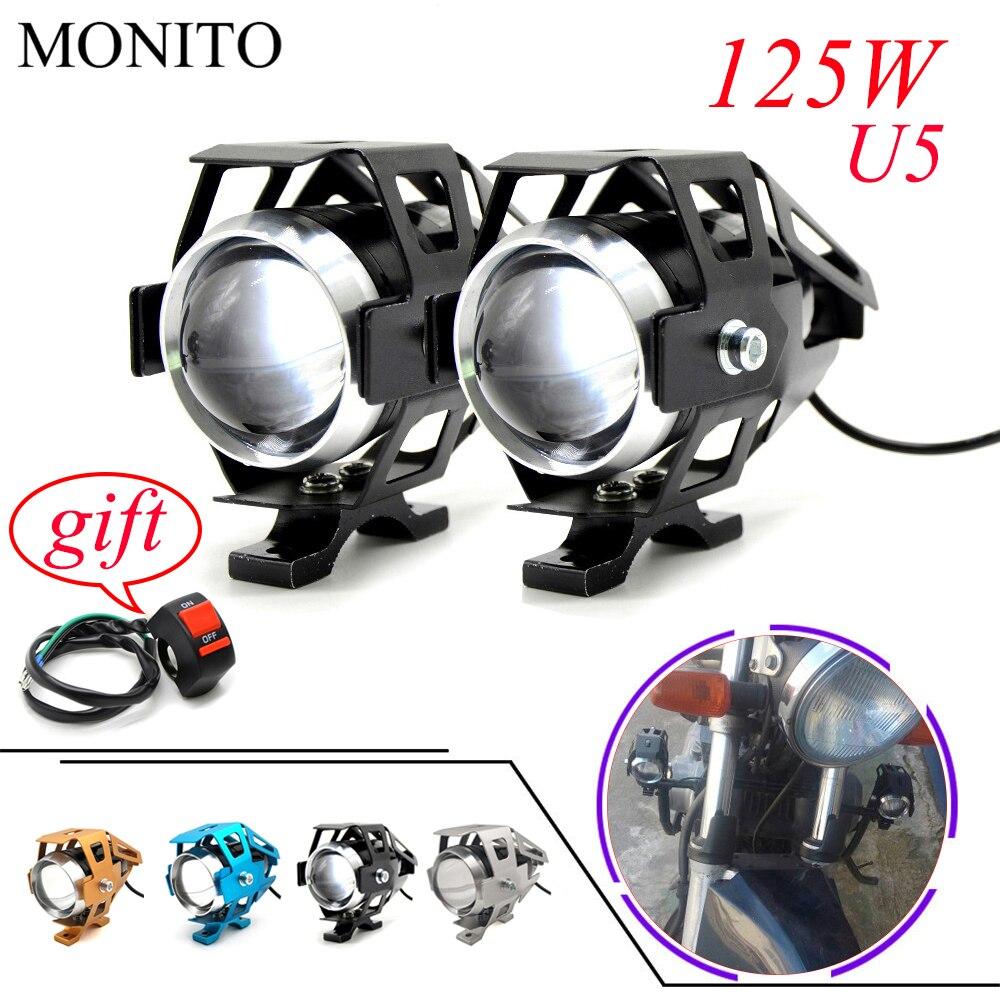 Motorcycle Light LED Driving Headlight Fog Light Auxiliary Lamp 12v U5 For HONDA CRF230F XR230 XR250 XR400 CRF 230F XR 250 230