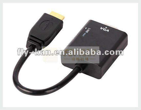 Free Shipping 5pcs/lot HDMI to VGA adapter with audio output, HD2V01