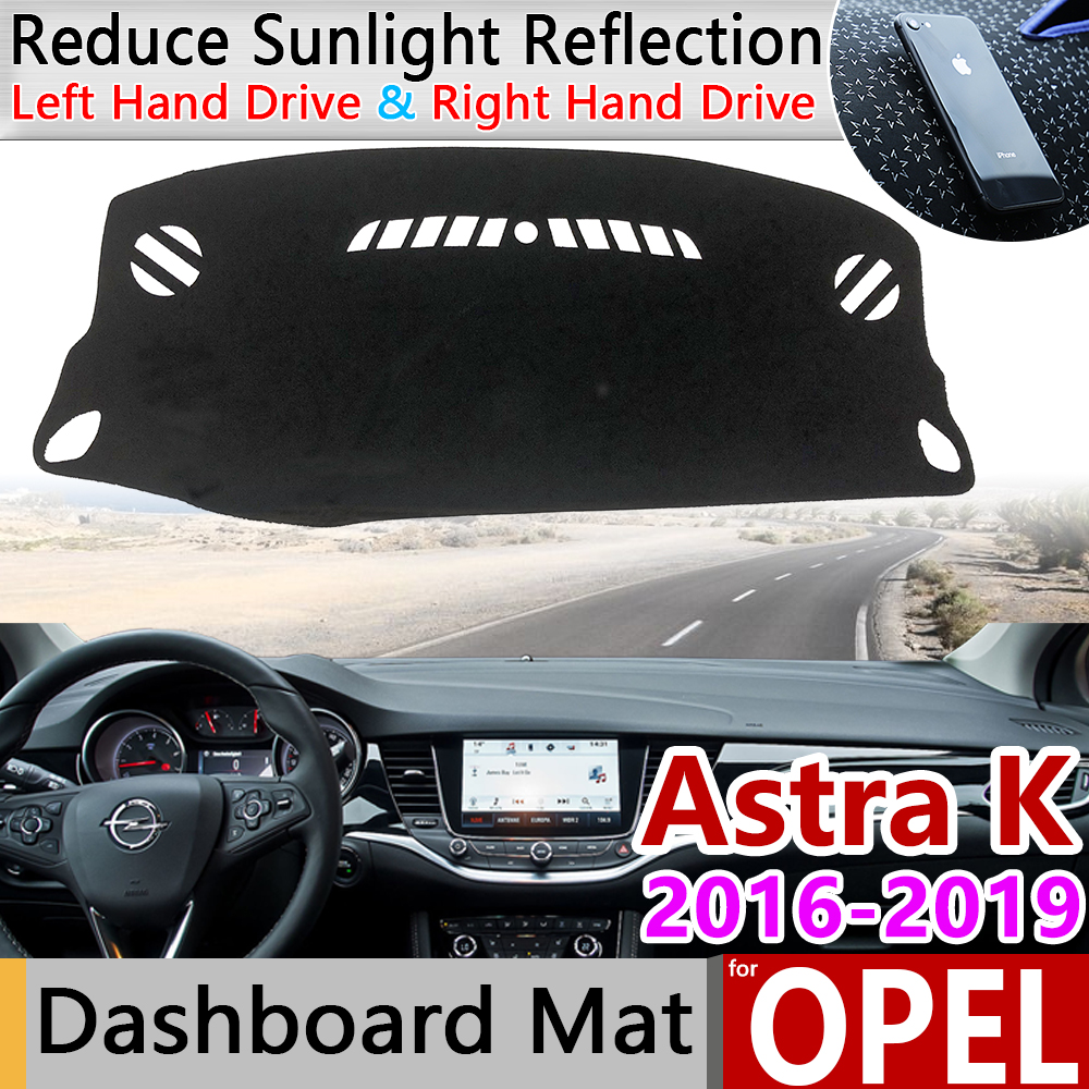 For Opel Astra K 2016 2017 2018 2019 Anti-Slip Mat Dashboard Pad Sunshade Dashmat Protect Carpet Car Accessories Vauxhall Holden