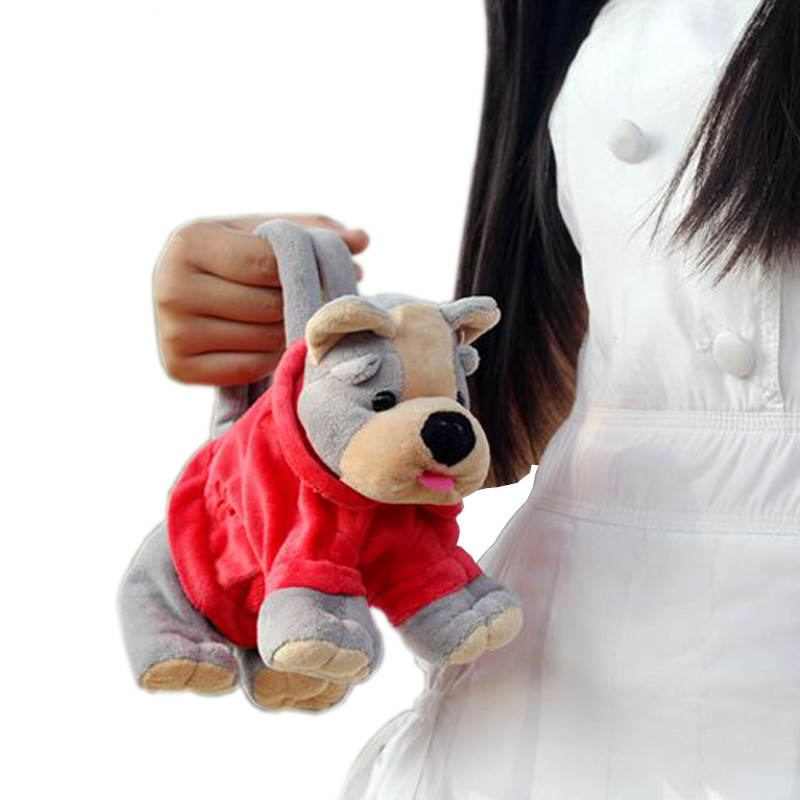 Kawaii Otroške torbe za živali z roko, luštne plišaste igrače, oblikovane majhne torbe za otroke zadrgo risanke mehke igrače, polnjene igrače