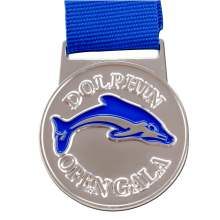 Manufacturers promote custom silver medals low price double