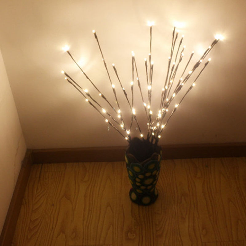Creative 20 Leds Branch Lights Luminous Wedding Christmas Festival Home Decoration Romantic Willow Twig Branches Lamp Dc120 Up-To-Date Styling