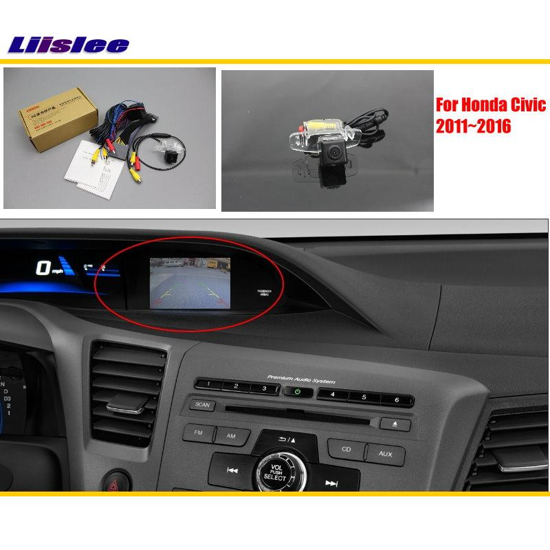 Liislee For Honda Civic FB 2011 2016 Car Rear View Back Up Reverse Camera Sets Original