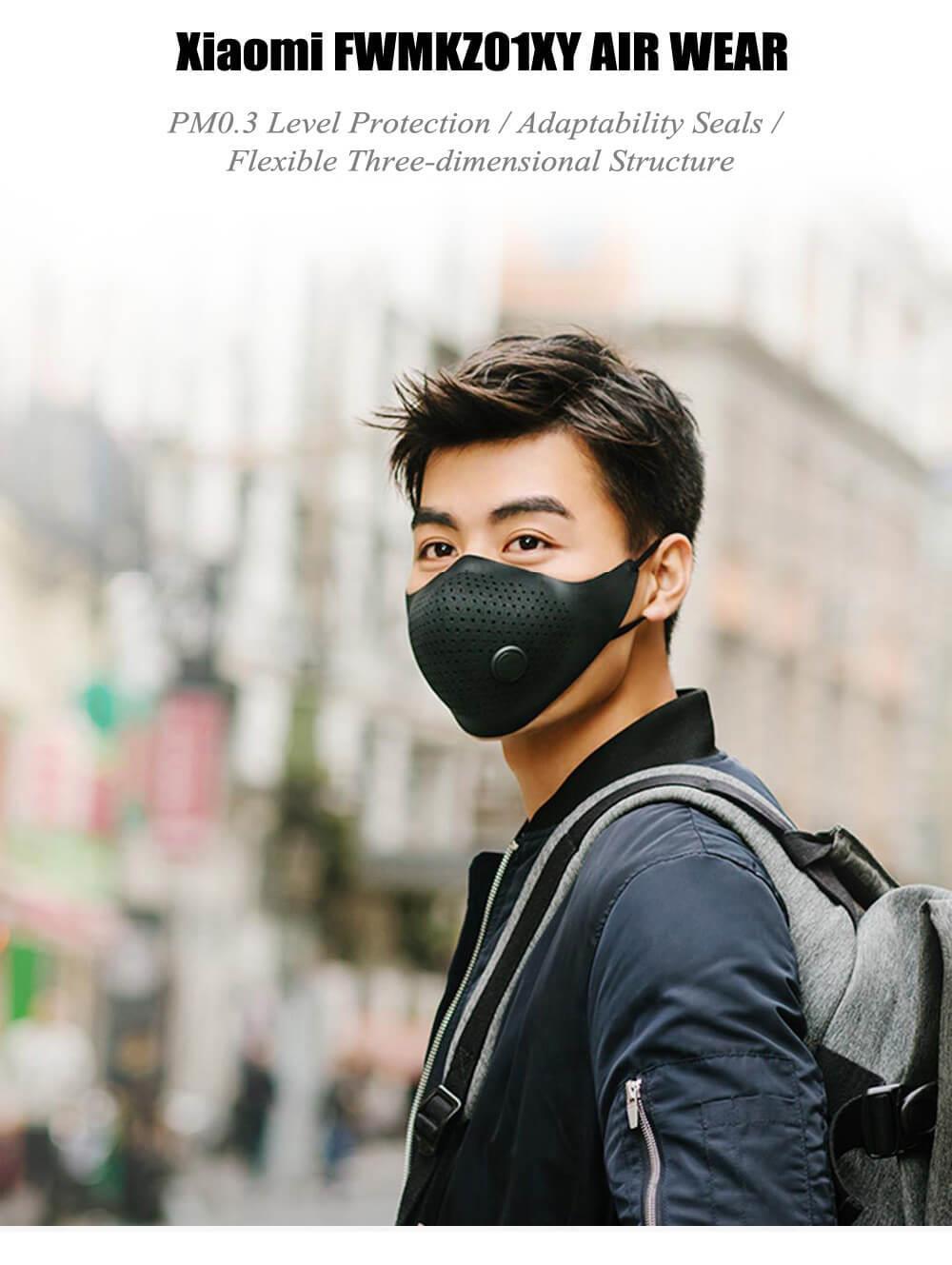 Mascara ajustable Xiaomi Mijia AirPOP PM0.3 antipolvo antibacterial