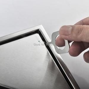 Image 4 - 三角形に見えない床ドレンバルコニー浴室コーナー床ドレン消臭非表示の型タイル挿入シャワー排水高速排水