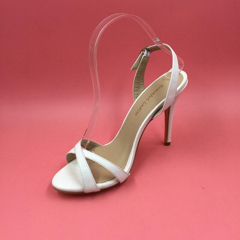 Elegant White Cross Strap Women Sandals