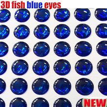 2018new 3d holographic fishing lure eyes,fly tying jig,lure bait eyes solid color fish 500pcs/lot BLUE