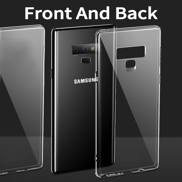 Phone Case For Samsung Galaxy Note 9 360 Degree Full Cover Body Sides Soft  TPU Phone Case Two Crystal Front Back For Note9 edd471ecf5f9