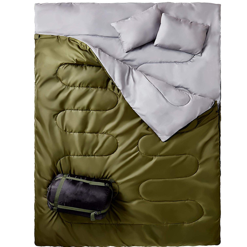 Double Sleeping Bag for Backpacking, Camping, Or Hiking Queen Size XL! Cold Weather 2 Person Waterproof Sleeping Bag for AdultsDouble Sleeping Bag for Backpacking, Camping, Or Hiking Queen Size XL! Cold Weather 2 Person Waterproof Sleeping Bag for Adults
