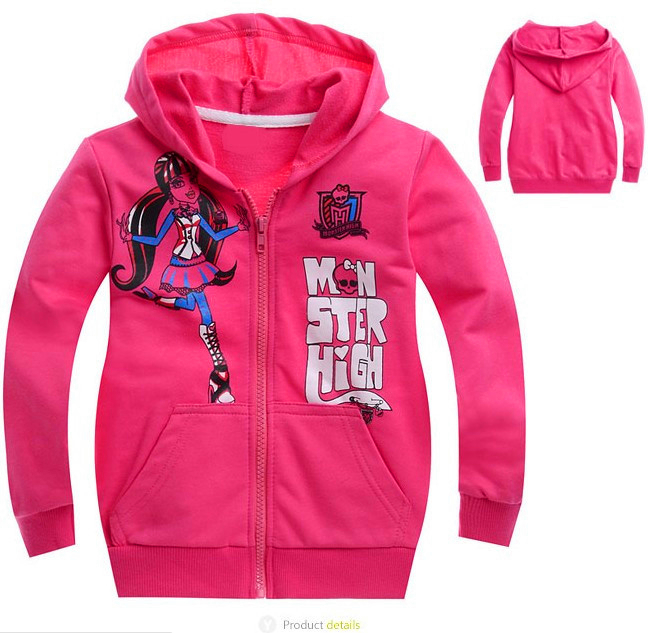 new 2016,spring children clothing,monster fashion girls clothes,baby,kids girl,children hoodies,children outerwear