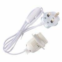 UK Plug Lampholder 1 5m Power Cord E27 E26 Lamp Base Lamp Holder Light Bulb Socket