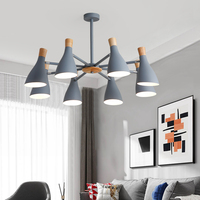 MDWELL Hot Chandelier Lighting For Living Room LED Chandeliers Wooden Lustres E27 Kitchen Lights Indoor Hanging Light Fixtures