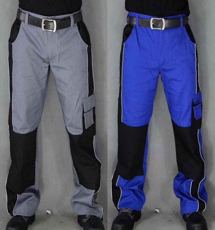 imágenes para Hombres pantalones de trabajo de Alta calidad usar-resistencia multi-bolsillos pantalones de trabajo Anti-mancha de Manejo y mantenimiento del sitio usable Lavable