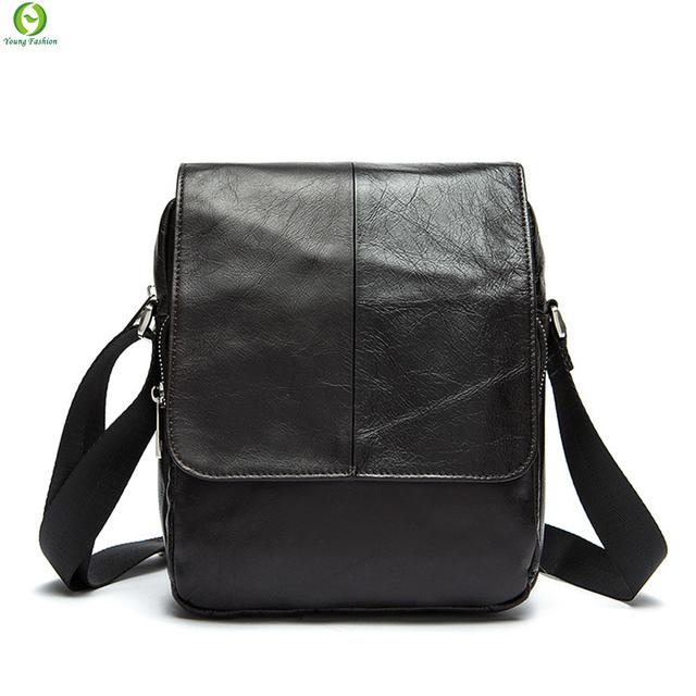 Hot venda Nova moda genuínos homens de couro sacos de pequeno saco de ombro homens messenger bag crossbody lazer sacos de couro enuine