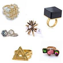 Comiya malaquita de piedra de imitación de piedras preciosas anillos set mujeres de la personalidad del anillo anillos de joyería de moda anillos mujer al por mayor