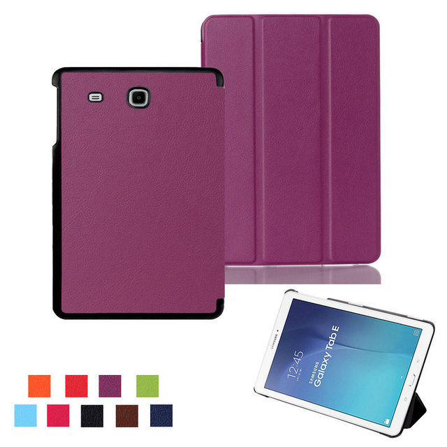 COVER For Samsung Tab E 9.6 T560 leather cover case funda For Samsung GALAXY Tab E 9.6 T560 SM-T560 tablet case +film+stylus