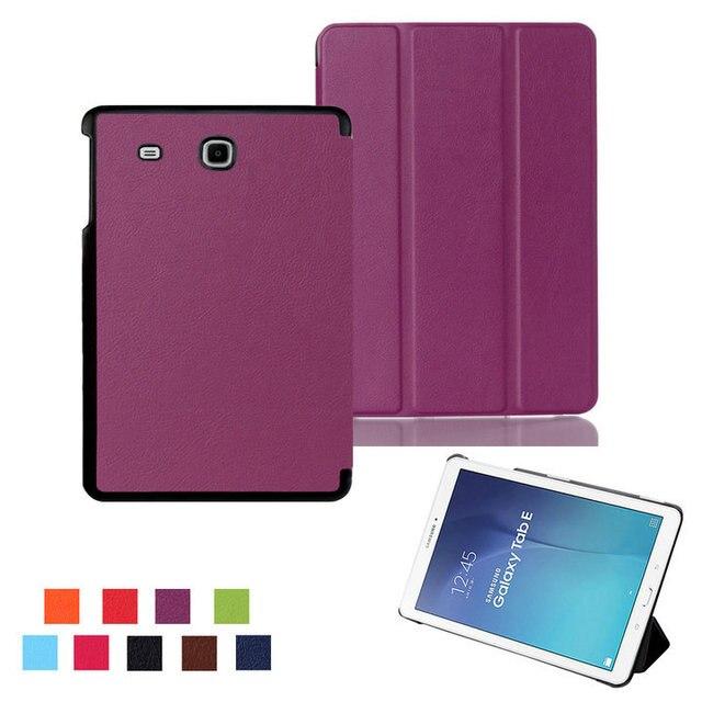 Funda para Samsung Tab E 9,6 T560 funda de cuero funda para Samsung GALAXY Tab E 9,6 T560 SM-T560 tableta funda + película + stylus