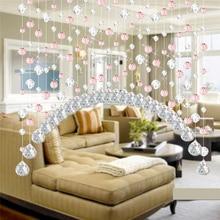 Ouneed door curtain Hot!! 1M Crystal Glass Bead Curtain Luxury Living Room Bedroom Window Door Wedding Decor*30 GIFT 2017 Drop