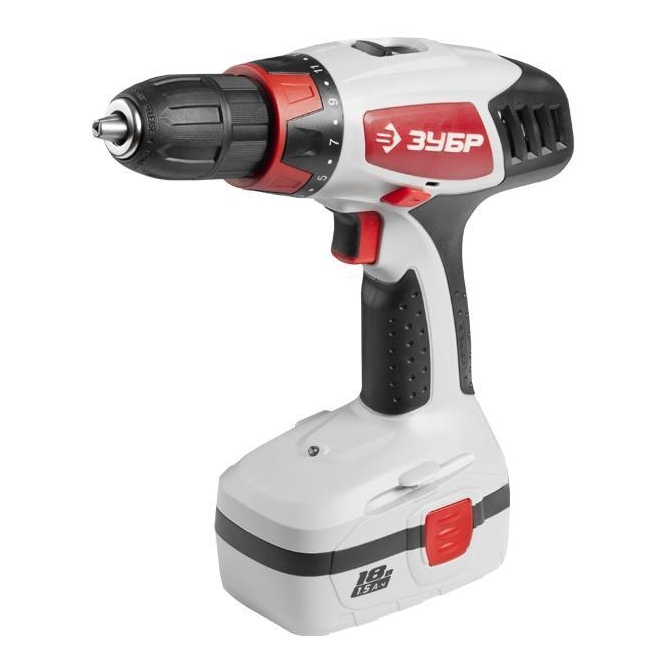 Drill driver rechargeable ZUBR ZDA-18-2 KIN цена и фото