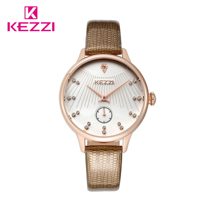 Kezzi quartz watch women watches brand luxury 2016 wristwatch female clock wrist watch lady for Watches brands for girl