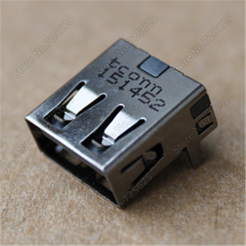 Laptop USB 2.0 Jack  Connector for Lenovo Thinkpad E330 E335 E430 E430C E435 E530 E535 E445 E545  2.0 USB Port USB Female Socket 1pcs lot 2 0 usb jack connector for lenovo laptop tablet etc usb port 4pin smd us 063