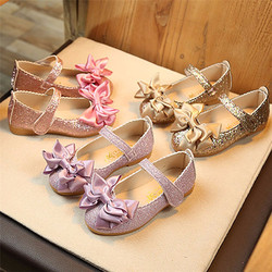 Sapatos de escola para meninas 2018 novo plus size para 1 9 9 t menina princesa festa bowknot dança nubuck couro único sapatos dropshipping