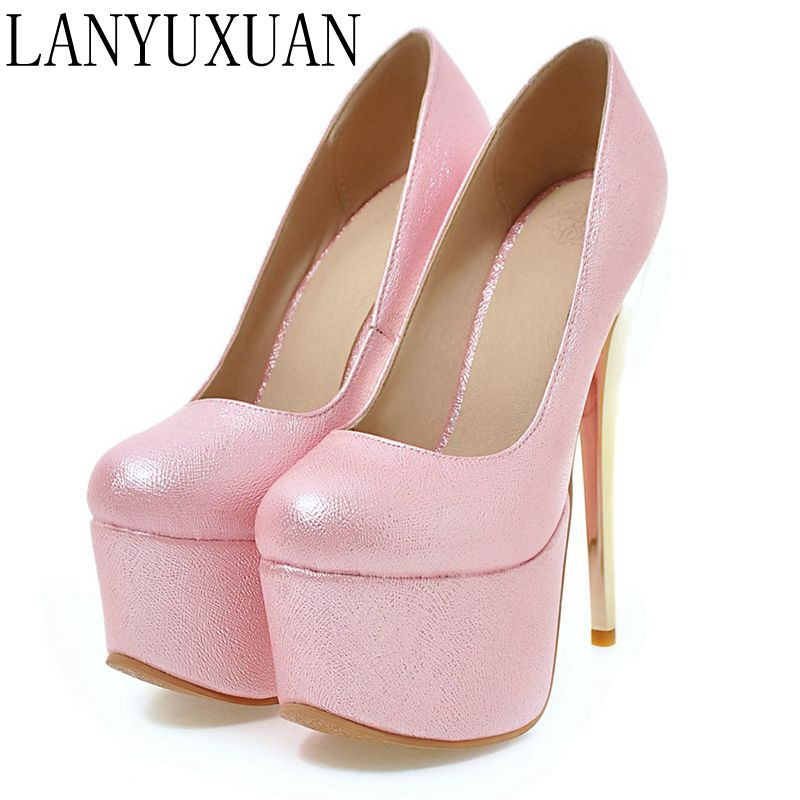 2017 Hot New Big Size Sale 30-48 Fashion Sexy Round Toe Women Super Platform  High Heels Ladies Wedding Party Shoes Y-28 memunia platform shoes shallow solid round toe high heels shoes big size 33 44 party shoes soft leather hot sale contracted