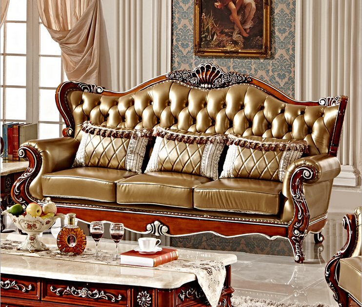 Luxury Italian Leather Hand Carved Sofa Set 1+2+3 F101 In Living Room Sofas  From Furniture On Aliexpress.com | Alibaba Group