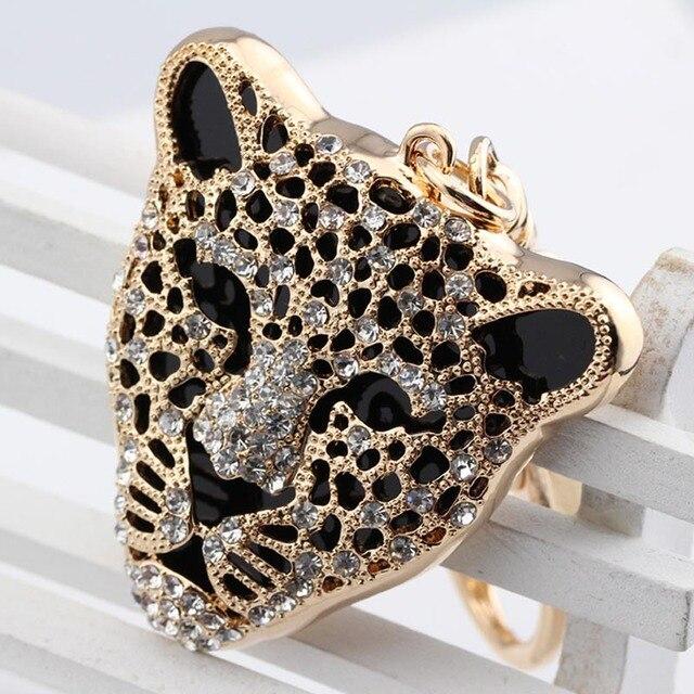New magic friendship key chain Leopard head keychain for woman jewelry gift animal keychain for car bag keychains jewelry gift