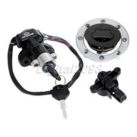 Motorcycle Ignition Switch Scooter Moped Lockset Lock+ Fuel Gas Cap Cover+ Key Set for Suzuki GSF600 GSF1200 Bandit 1995 2005