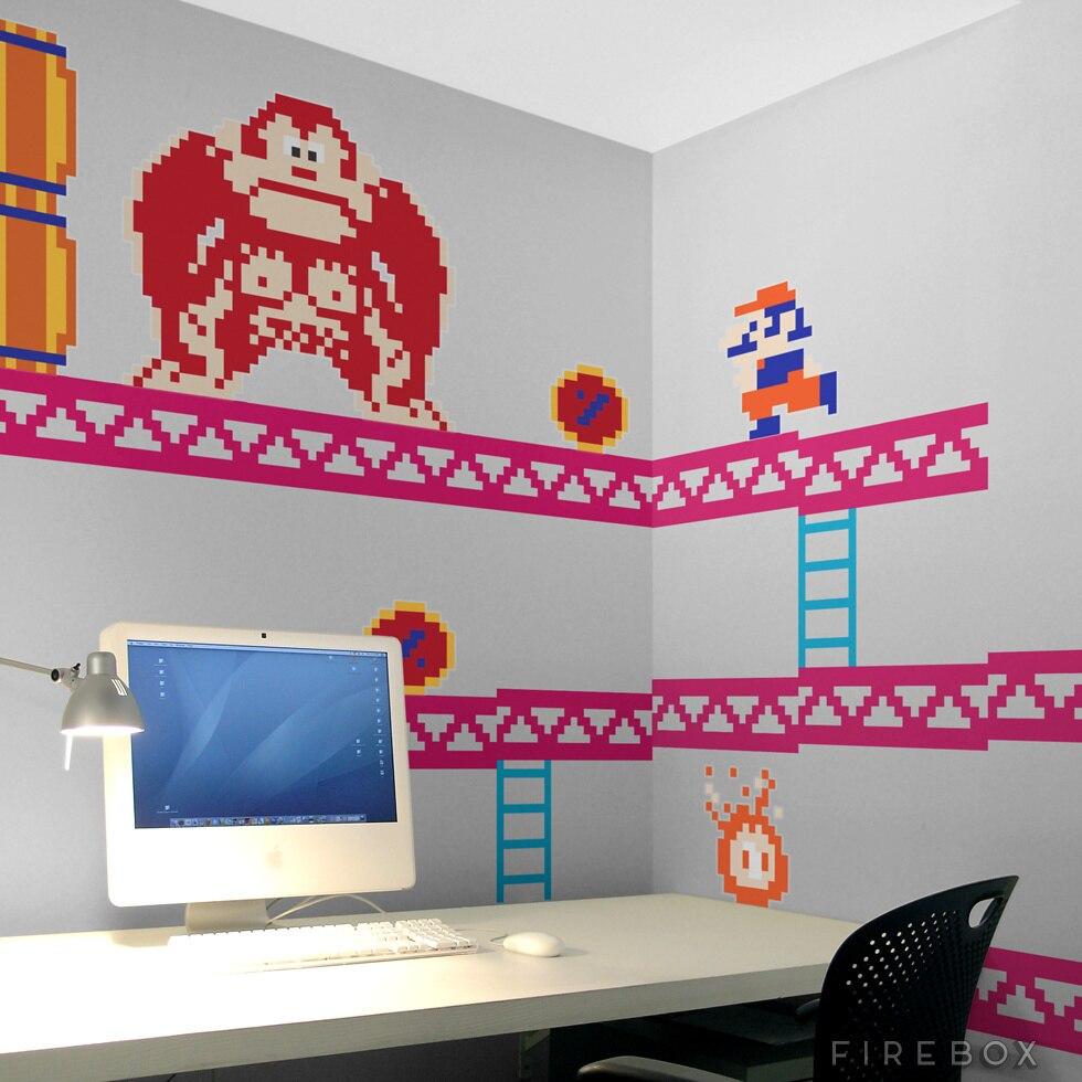 Mario Bedroom Aliexpresscom Buy Xxl Nintendo Donkey Kong Mario Wall Decals